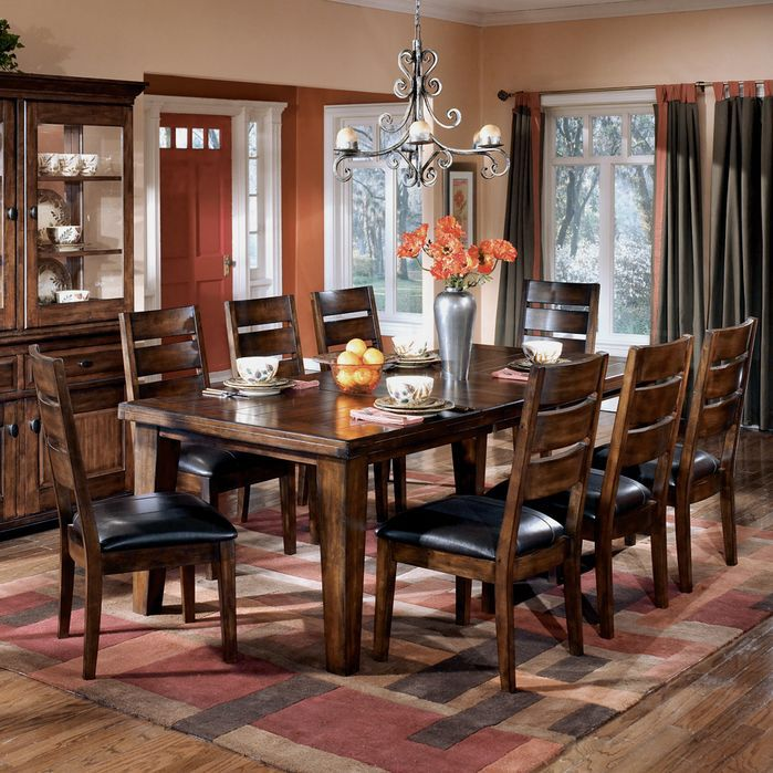 Larchmont Rectangular Extension Table Dining Room Set Sets Bedroom Furniture Curio Cabinets And Solid Wood