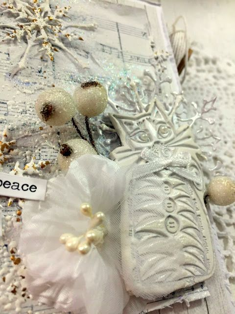 PaperArtsy: 2017 #17 White: Christmas Ornaments with Squiggly Minis {by Ingrid Vichova}