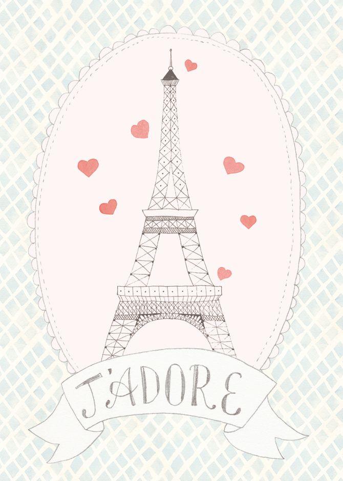 Inspiration for A Crime of Fashion. #ModelUnderCover #CrimeofFashion: Illustration, Art, Poster, France, I Love Paris, Jadore