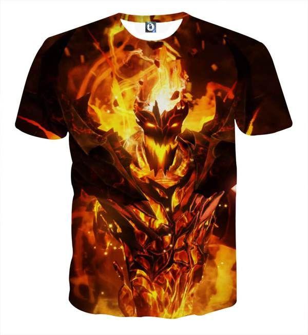 Shadow Fiend Dota 2 Arcana 3D Printed Shadow Fiend T-Shirt