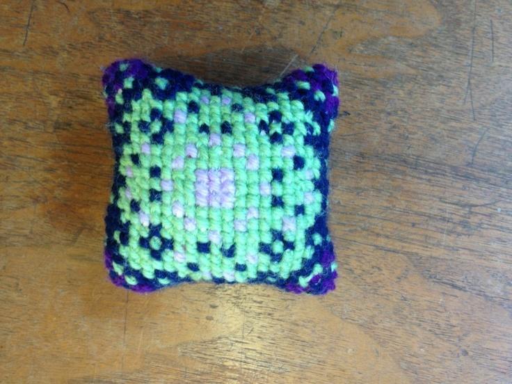 Waldorf ~ 4th grade ~ Handwork ~ Cross Stitch Pin Cushion