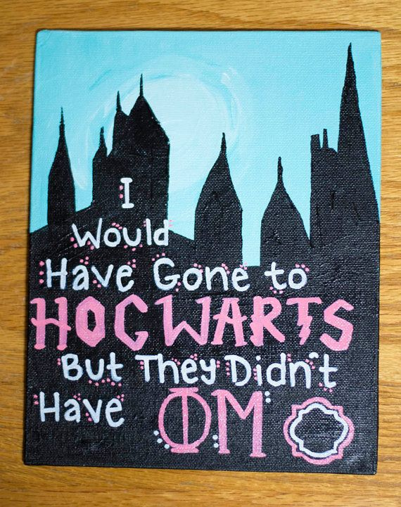 I Would Have Gone to Hogwarts... Painting by WithCurlsAndPearls