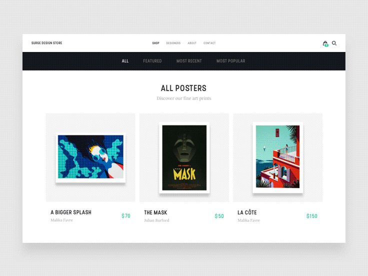 Surge Design Store - Shop All by Tom Vranek