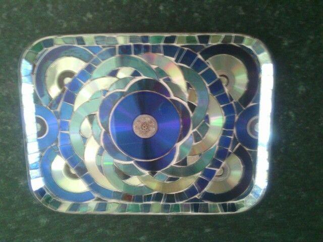 Ria's CD mosaic tray