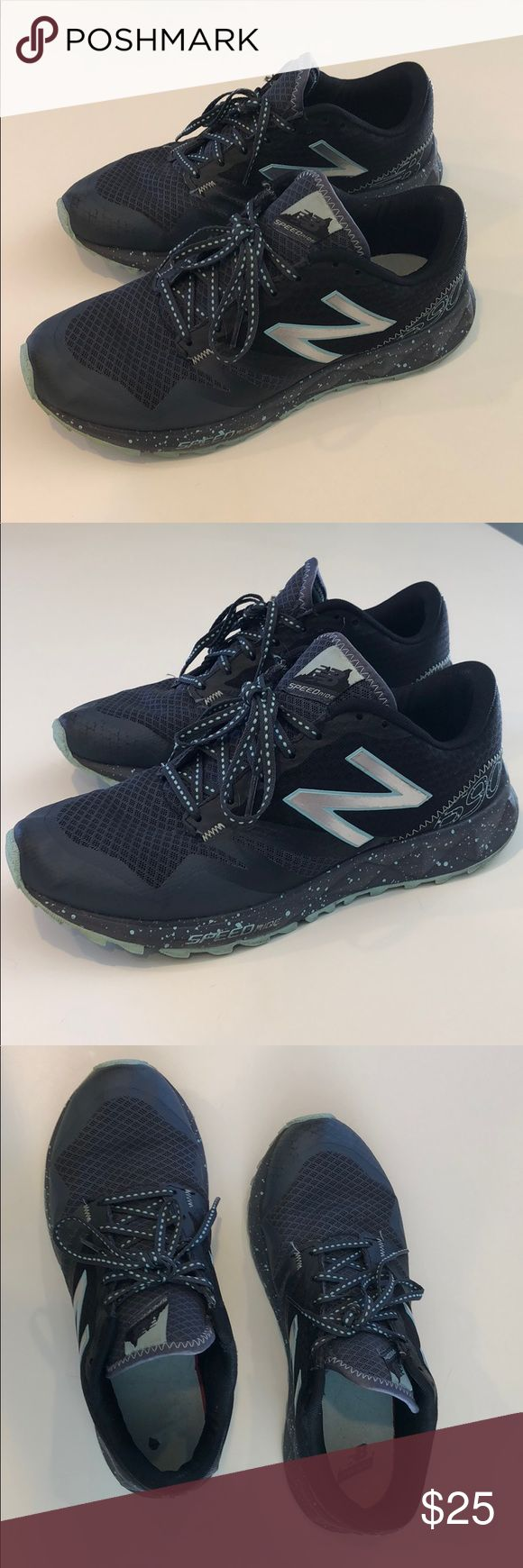 New Balance Size 8 Womens All Terrain Sneakers New Balance All Terrain Womens Sneakers in navy blue and light blue. Great support and love these shoes. Just moving and downsizing. MUST GO! New Balance Shoes Sneakers