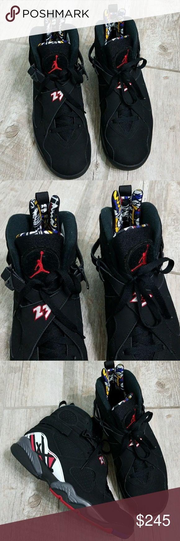 Jordan 8 playoffs Air Jordan's 8  like new only worn once original box. Authentic Jordan's great condition.  2013         *No trades* Jordan Shoes Sneakers