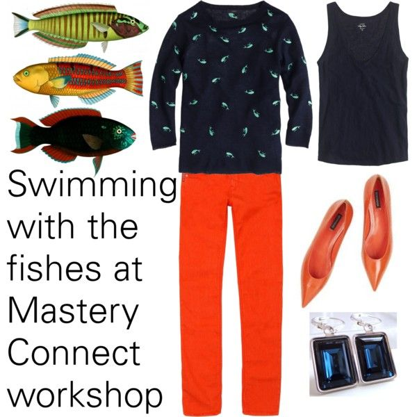Swimming with the fishes at Mastery Connect Workshop by deneet on Polyvore featuring J.Crew, Armani Jeans and Beta Fashion