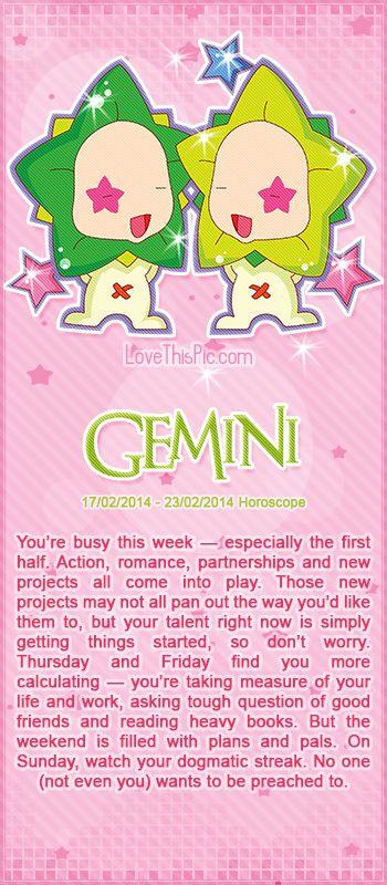 GEMINI WEEKLY HOROSCOPE 2/17/14 - 2/23/14 astrology zodiac gemini horoscopes horoscope weekly horoscope astrological forecast horoscope signs predictions
