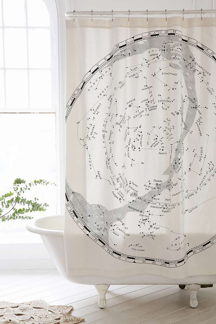 Magical Thinking Constellation Map Shower Curtain - Urban Outfitters