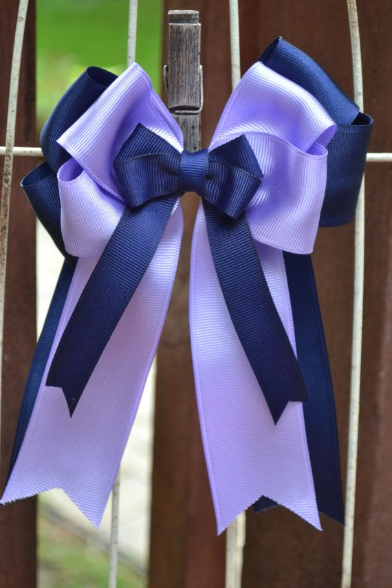 Horse Show Bows- Navy Blue, Purple Equestrian Hair Bows (2) on Etsy, $25.00