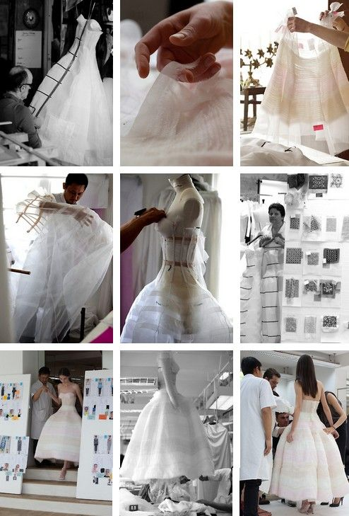 The process of making look #46 for Christian Dior haute couture f/w 2012, photographed by Sophie Carre