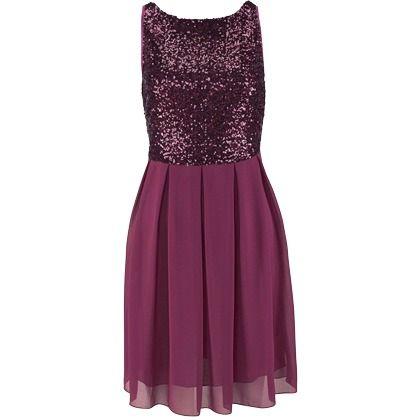 Kleid mit pailletten oberteil