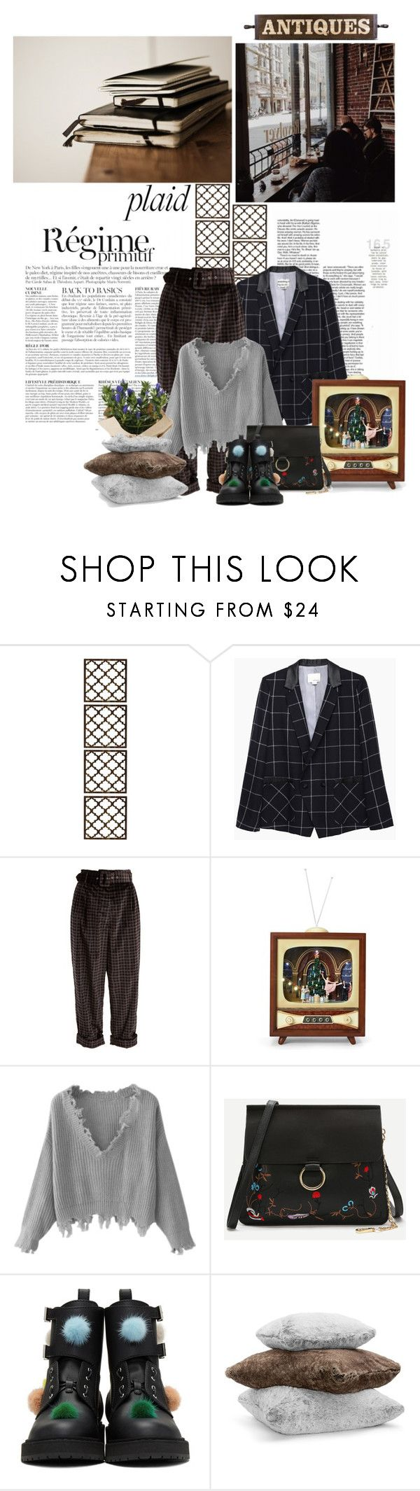 """""""Untitled #1107"""" by barnetta ❤ liked on Polyvore featuring Anja, Marrakech, Band of Outsiders, Isa Arfen, Roman, WithChic, Muji, Fendi and Hudson Park"""