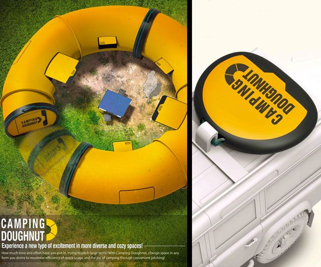 The Camping Doughnut ?? Yeah you have to check out this cool gear for enjoying the outdoors in comfort