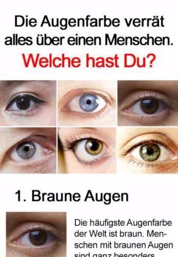 Das verraten deine Augen über Dich!   Augen farbe