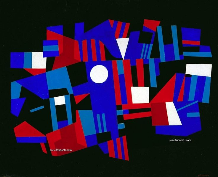 780 Ad Reinhardt - 19 Red and Blue Composition oil on fibreboard 1941_zps7lfzot0k.jpg~original (780×631)