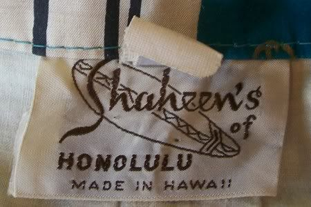 "Alfred Shaheen ""Shaheen's of Honolulu"", 1950s chopstick print cigarette pants"