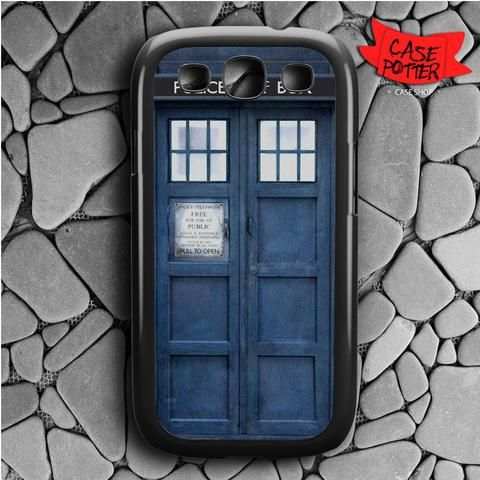 Police Box Doctor Who Samsung Galaxy S3 Black Case