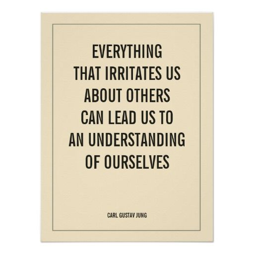 EVERYTHING THAT IRRITATES US ABOUT OTHERS CAN LEAD POSTER