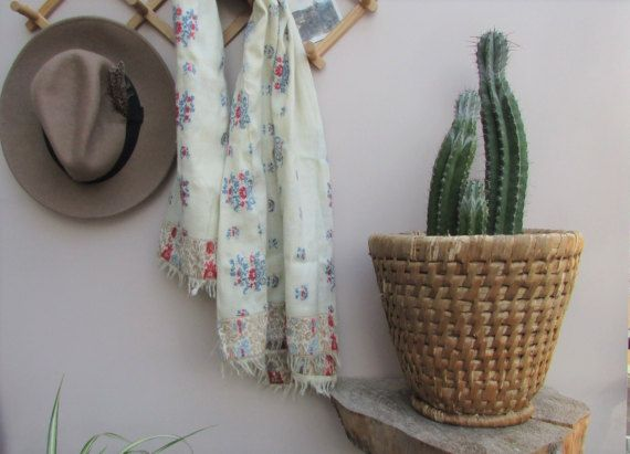 Vintage Woven Boho Planter Basket / Mid by indigoandskyflower