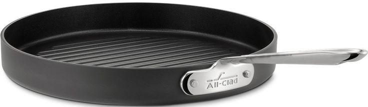 All-Clad 3012 Hard Anodized Aluminum Scratch Resistant Nonstick Anti-Warp Base Round Grille Pan Specialty Cookware, 12-Inch, Black ** You can find more details by visiting the image link.