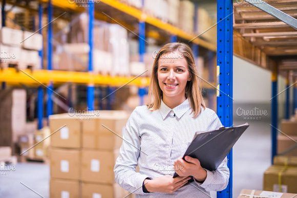 Portrait Of A Woman Warehouse Worker Or Supervisor Warehouse Jobs Warehouse Worker Worker
