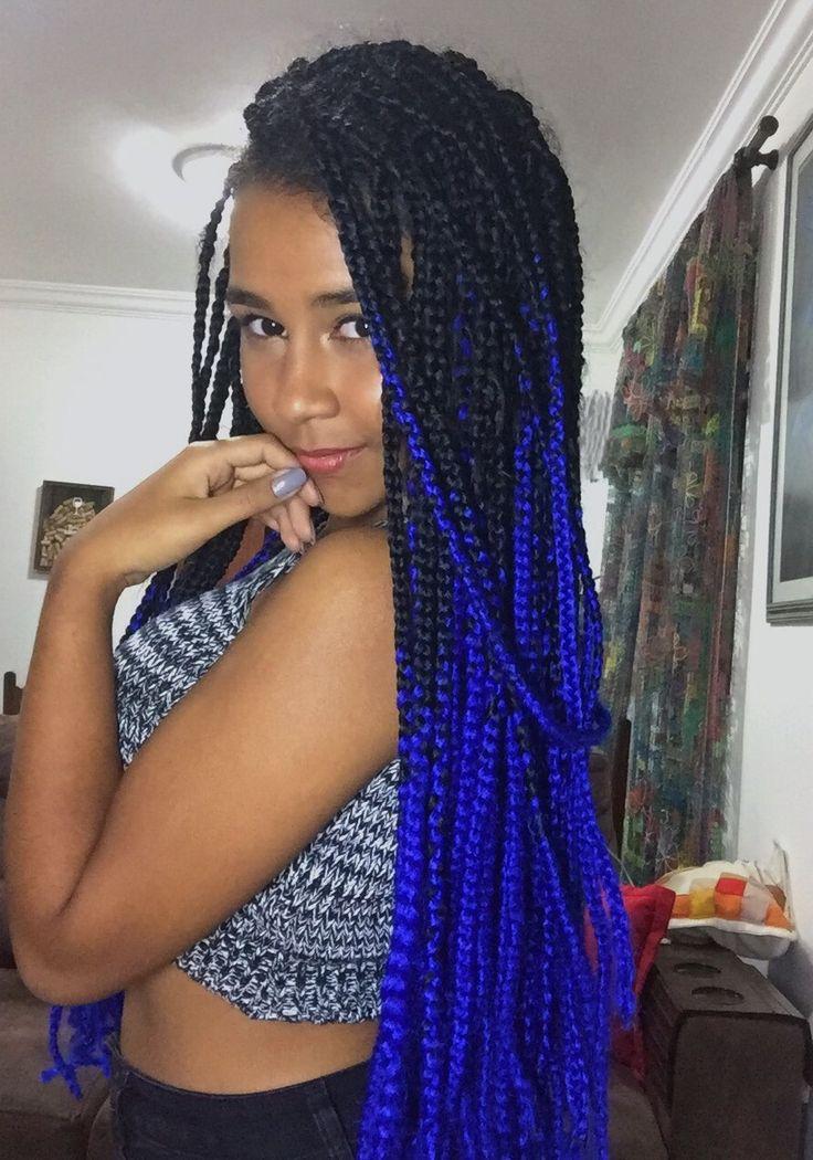 Best 25 Blue Box Braids Ideas On Pinterest Box Braid