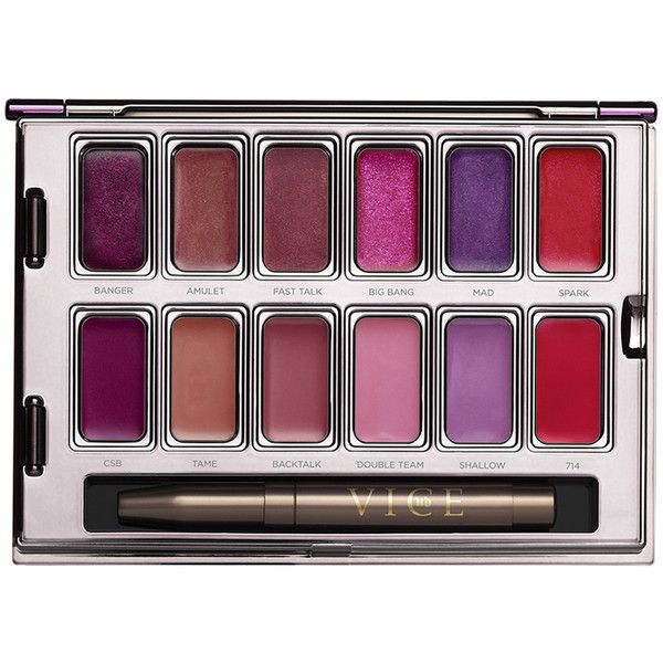 Urban Decay Vice Metal Meets Matte Lipstick Palette ($42) ❤ liked on Polyvore featuring beauty products, makeup, lip makeup, lipstick, urban decay lipstick and urban decay