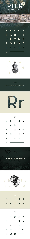 PIER: Free Elegant Sans Serif Typeface - ByPeople