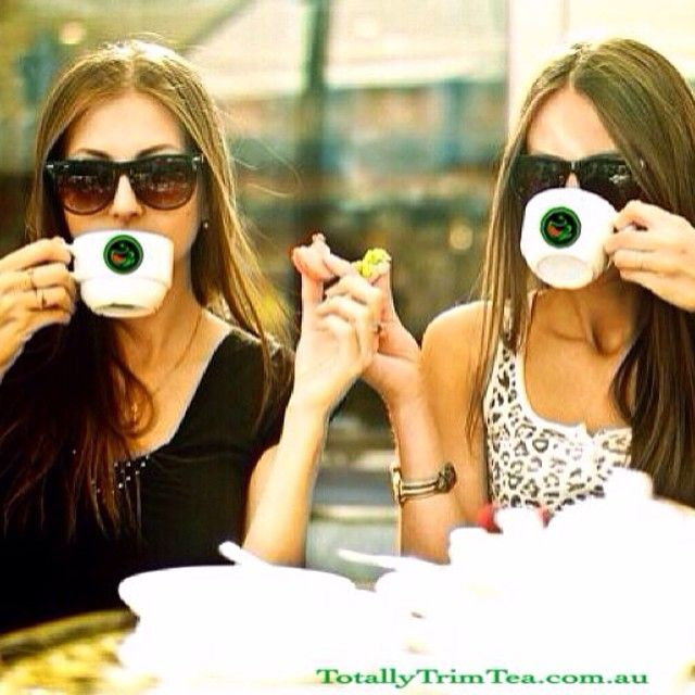 Tea for two!!! ☕️☕️ #totallytrimtea