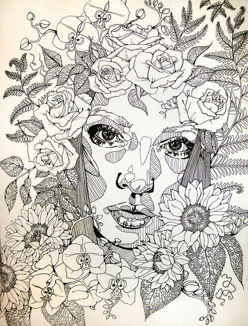 """Eden""— micron on paper.  Follow me for more portraits! http://ashleydorneyart.tumblr.com/ www.ashleydorney.com"