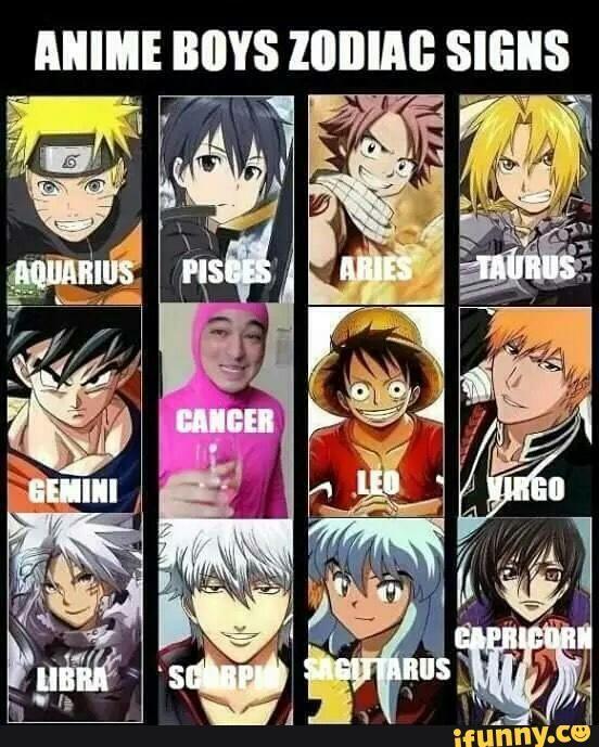 Anime Girl Zodiac Signs: Anime, Zodiac, Fairytail, Manga, Zodiacsigns