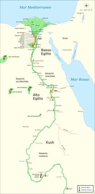 Piramidi egizie - Wikipedia cartina