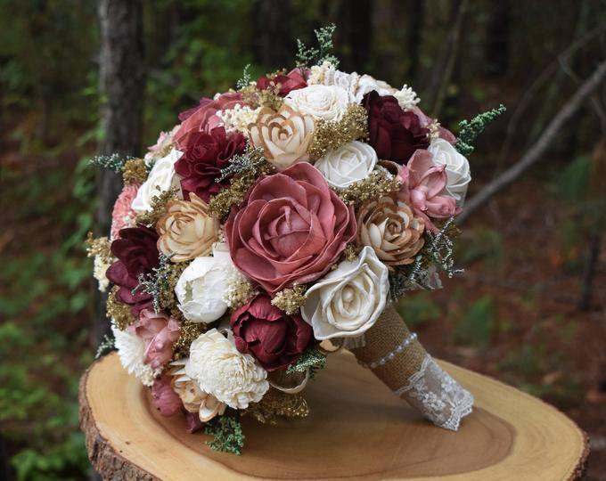 Mini Bouquet Burgundy Dusty Pink Bouquet Rustic Bouquet Etsy Red Bouquet Wedding Burgundy Bouquet Rustic Bouquet