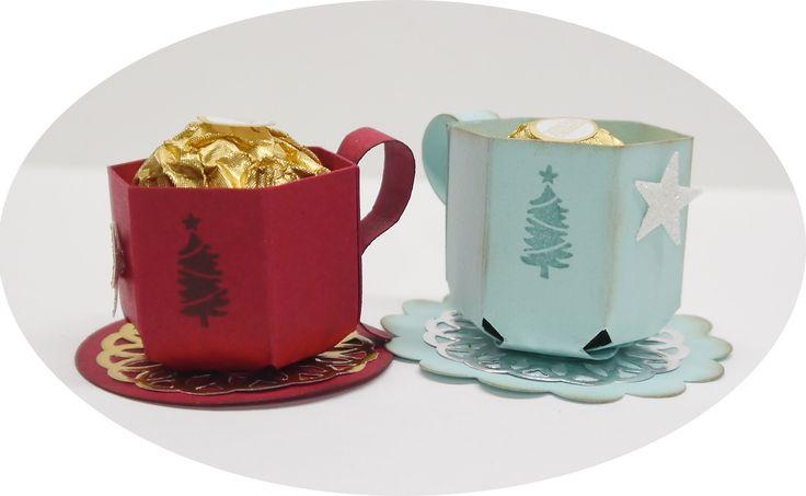 Anleitung Mini Tasse für Pralinen