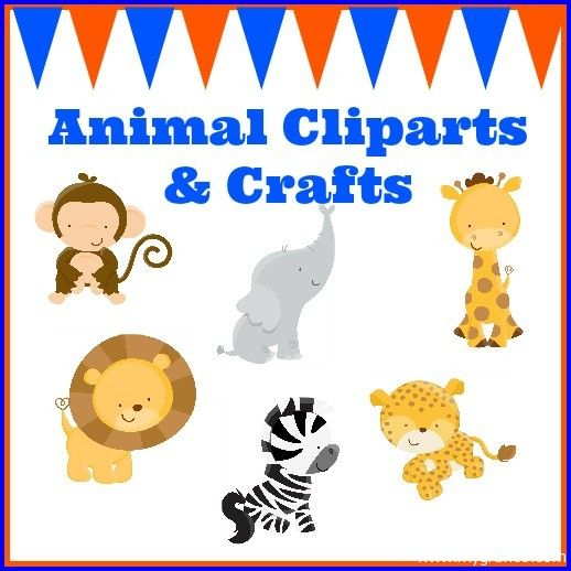 Animal Cliparts and Crafts.  Great ideas for parties, crafts and creative projects.