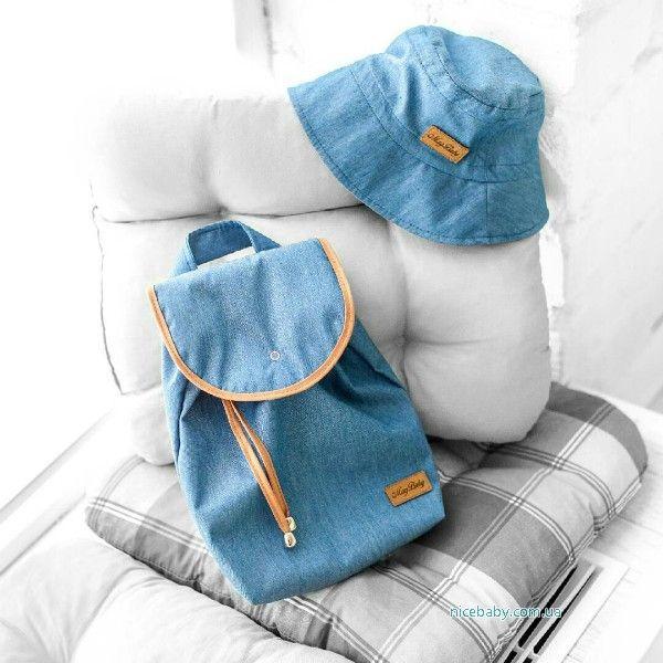 Детский набор: рюкзак и панама Джинс