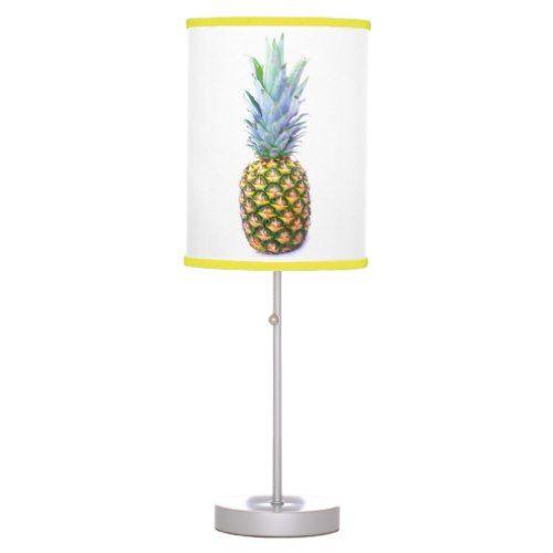 Pineapple Fruit Beach Dessert Colorful Tropical Desk Lamp