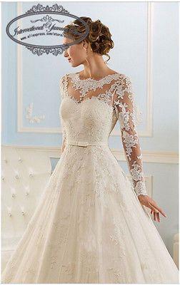 2016 tulle et dentelle robe de mariée robe de mariée à manches longues avec Appl