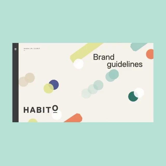"469 Me gusta, 6 comentarios - FormFiftyFive (@formfiftyfive) en Instagram: ""Brand guideline for online mortgage service Habito by @multiadaptor. . #branding #brandidentity…"""