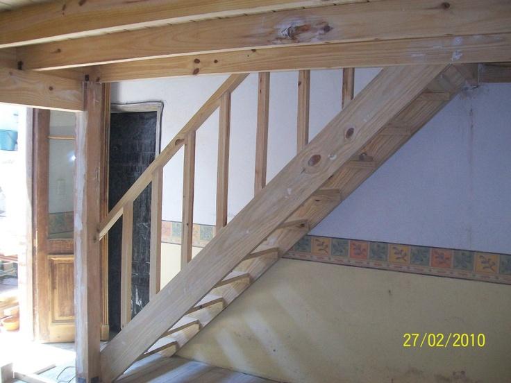 Entrepiso de madera pergola esenario deck escaleras - Hacer escaleras de madera ...