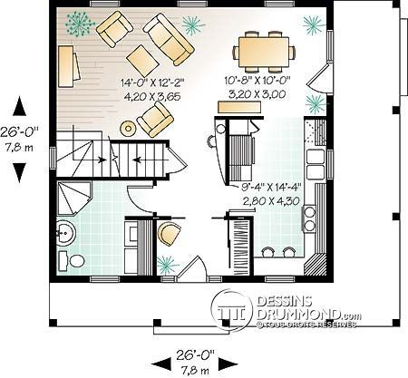 Plan de Maison unifamiliale W2733
