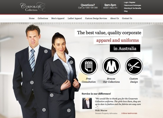 Corporate Collection - http://www.ccappareluniforms.com.au/