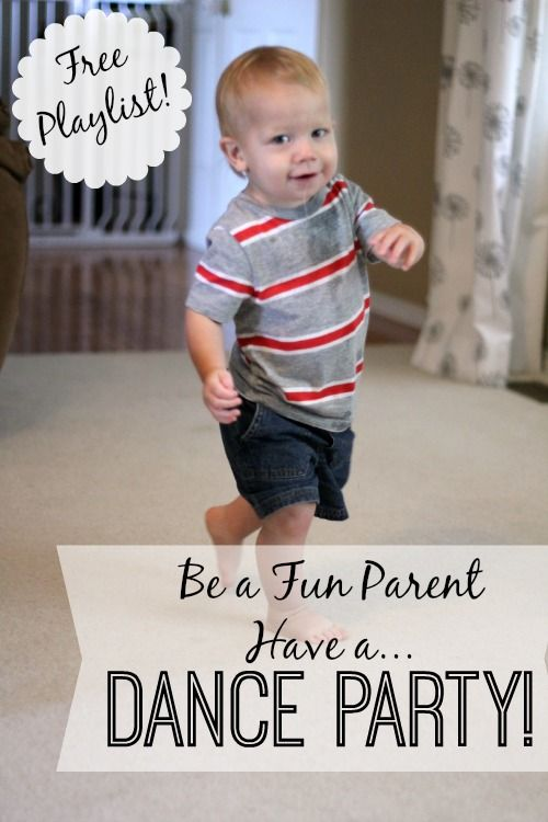 Dance parties are so much fun for both kids and you!   I love how this post includes a playlist.