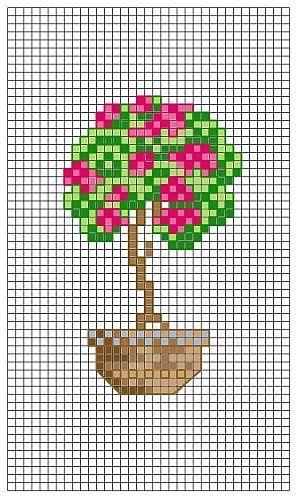 Miniatura arbol en maceta