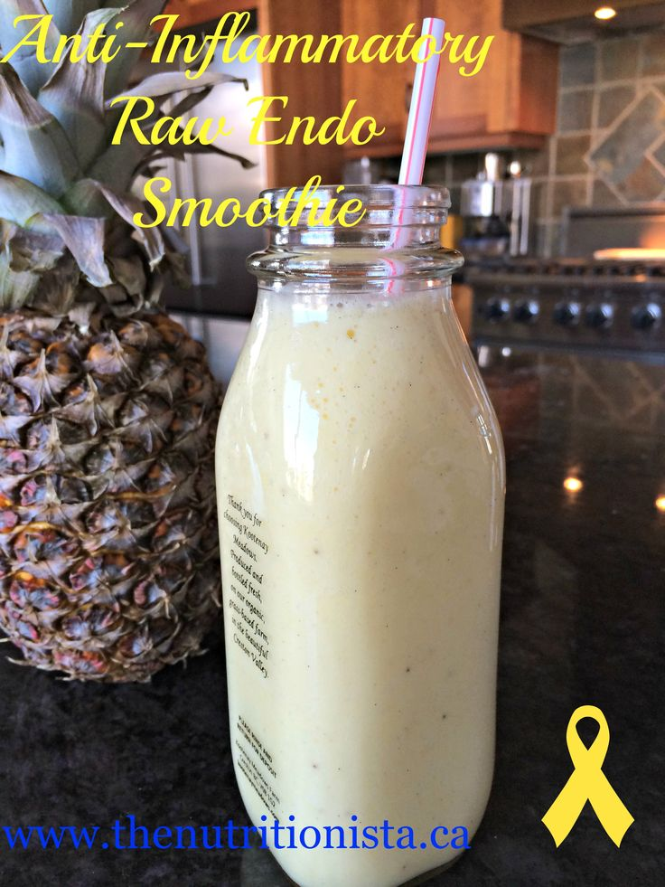 This anti-inflammatory endo smoothie is packed full of secret superfood ingredients to calm inflammation and pain.
