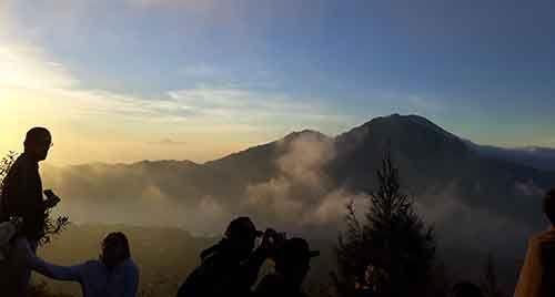 Hiking mount batur bali volcano sunrise trekking
