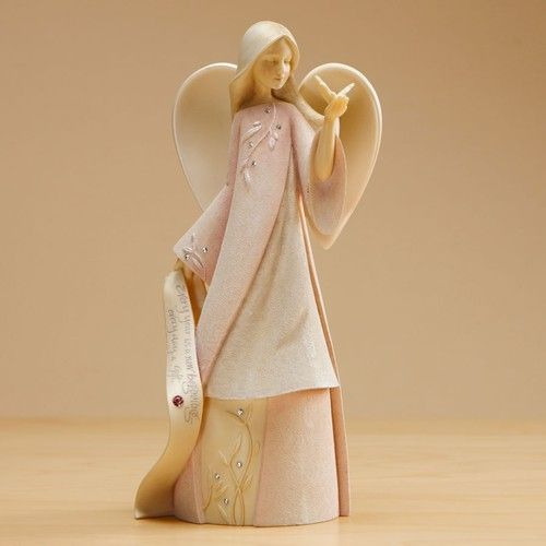 Foundations October Monthly Angel Figurine 4015980