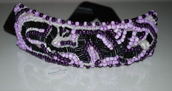 statement bracelet  embroidered on purple felt by choice4all