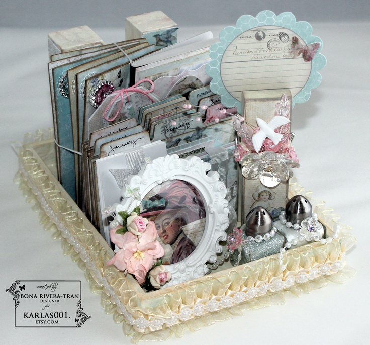Shabby Chic Desk Organizer created by Bona Rivera-Tran.